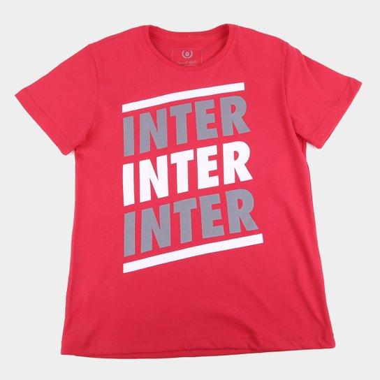 Camiseta Infantil Internacional Listras Retrô Mania - Vermelho