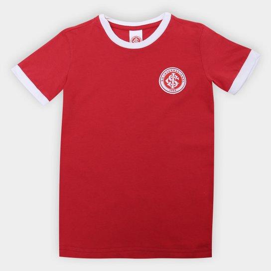 Camiseta Infantil Retrô Inter - Vermelho