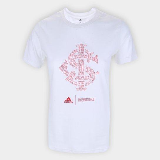 Camiseta Internacional Adidas Blank Feminina - Branco