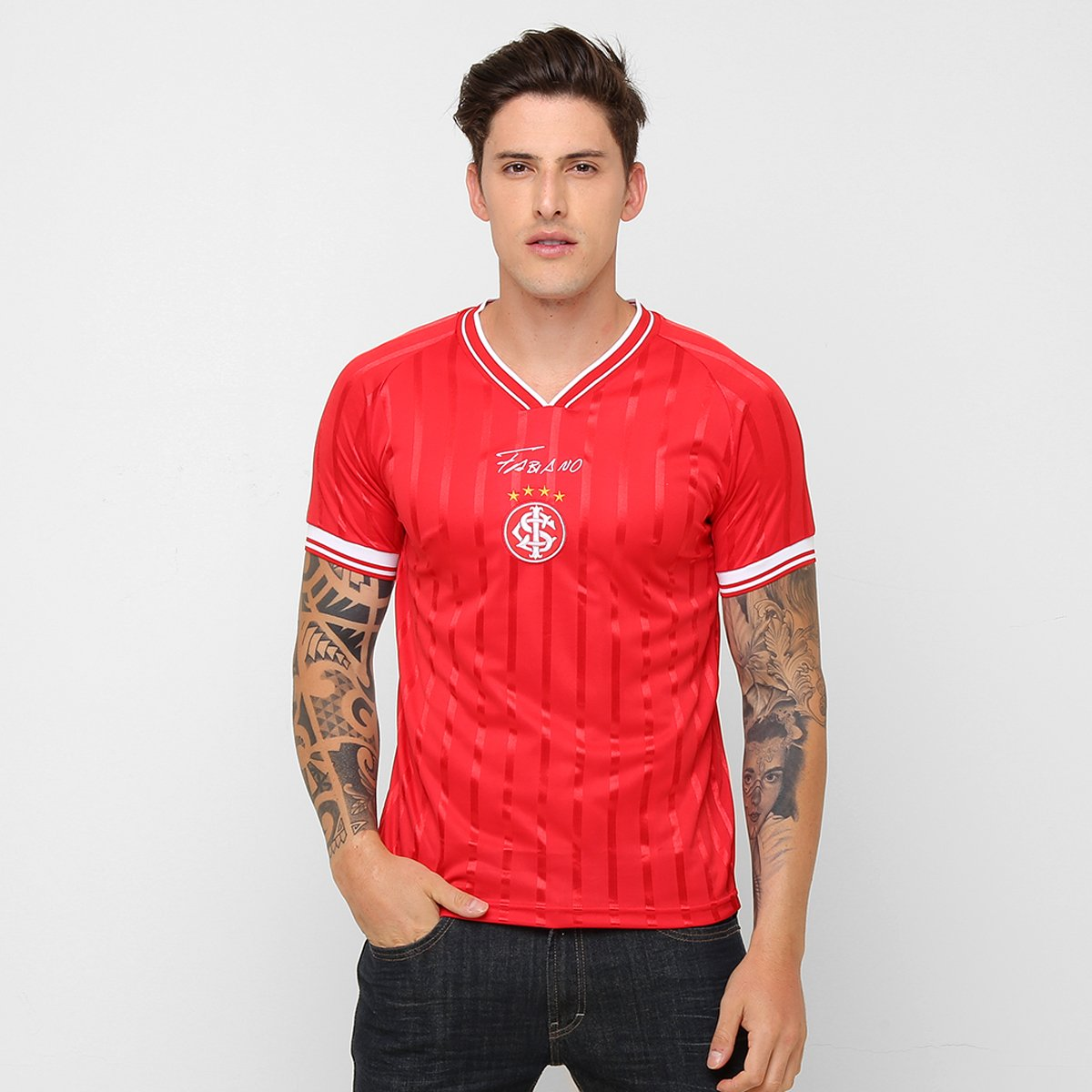 1c765141d6a Camiseta Internacional Alusiva Fabiano Souza Masculina - Compre Agora