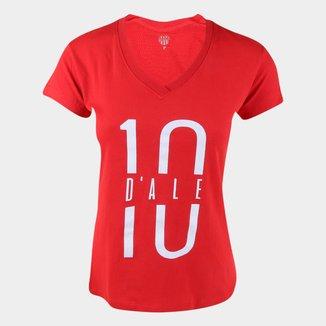 Camiseta Internacional D'Alessandro 10 RetrôMania Feminina