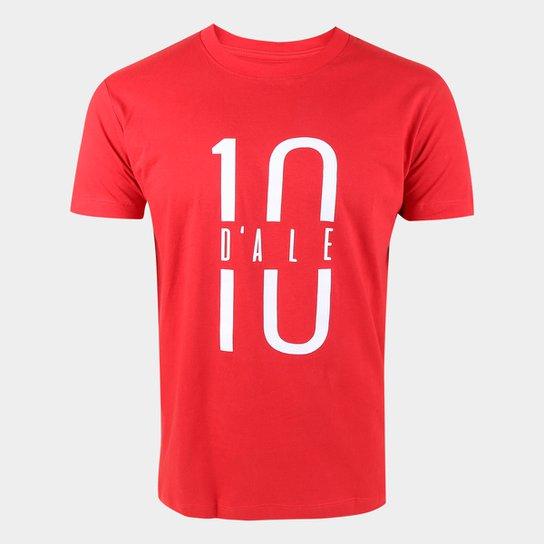Camiseta Internacional D'Alessandro 10 RetrôMania Masculina - Vermelho