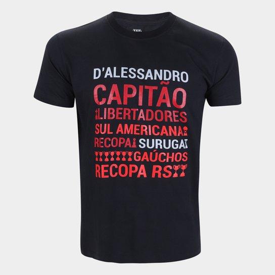 Camiseta Internacional D'Alessandro Conquistas RetrôMania Masculina - Preto