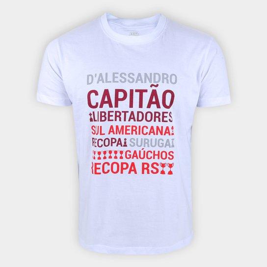 Camiseta Internacional D'Alessandro Conquistas RetrôMania Masculina - Branco