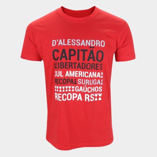 Camiseta Internacional D'Alessandro Conquistas RetrôMania Masculina - Vermelho