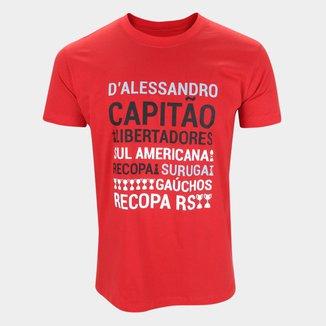 Camiseta Internacional D'Alessandro Conquistas RetrôMania Masculina