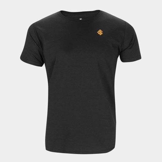 Camiseta Internacional Emblem Masculina - Preto