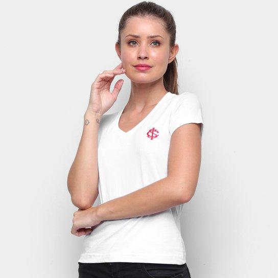 Camiseta Internacional Escudo Retrô Mania Feminina - Branco