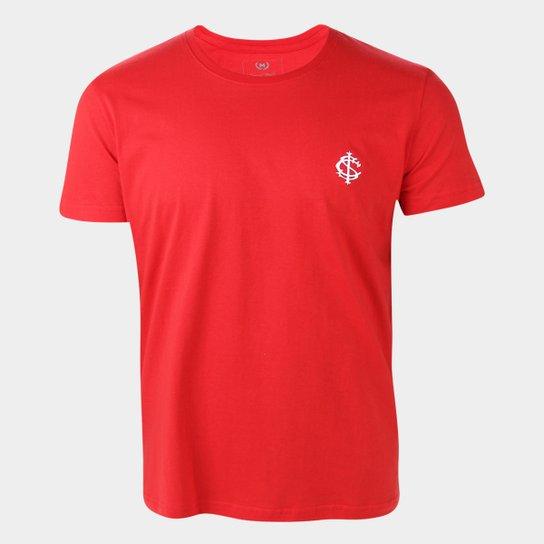 Camiseta Internacional Escudo Retrô Mania Masculina - Vermelho