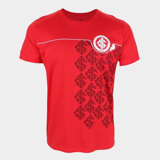 Camiseta Internacional Estampada Masculina - Vermelho