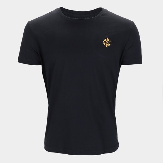 Camiseta Internacional Gold Retrô Mania Masculina - Preto