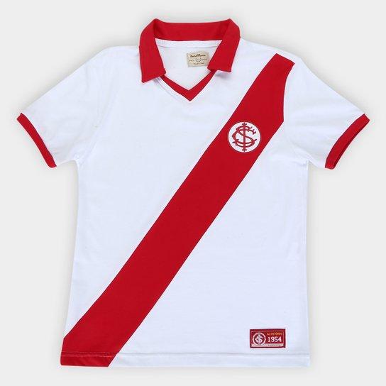 Camiseta Internacional Juvenil 1954 - Branco+Vermelho