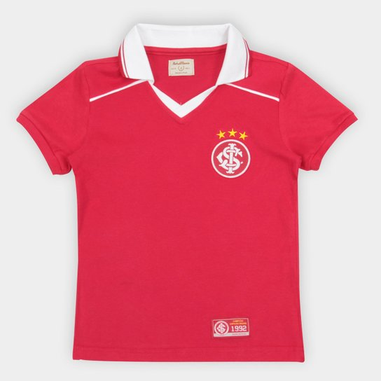 Camiseta Internacional Juvenil Retrô Mania 1992 - Vermelho
