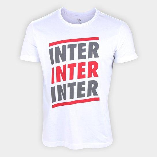 Camiseta Internacional Listras Retrô Mania Masculina - Branco