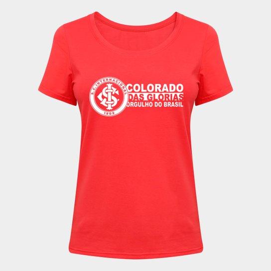 Camiseta Internacional Orgulho do Brasil Feminina - Vermelho