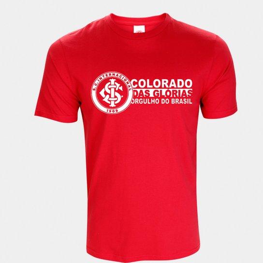 Camiseta Internacional Orgulho do Brasil Masculina - Vermelho