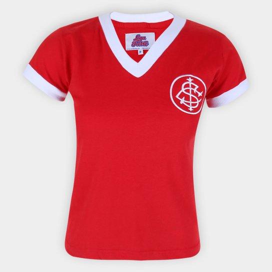 Camiseta Internacional Retrô 1976 Nº5 Feminina - Vermelho