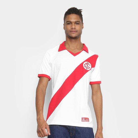 Camiseta Internacional Retrô Mania 1954 Masculina - Branco+Vermelho