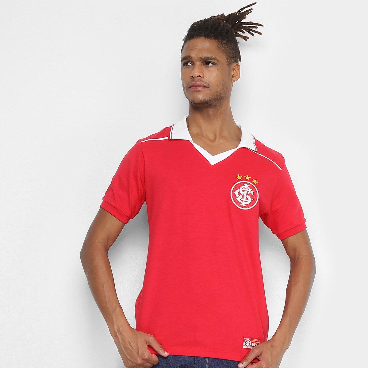 81cd7373d63 Camiseta Internacional Retrô Mania 1992 Masculina - Vermelho - Compre Agora