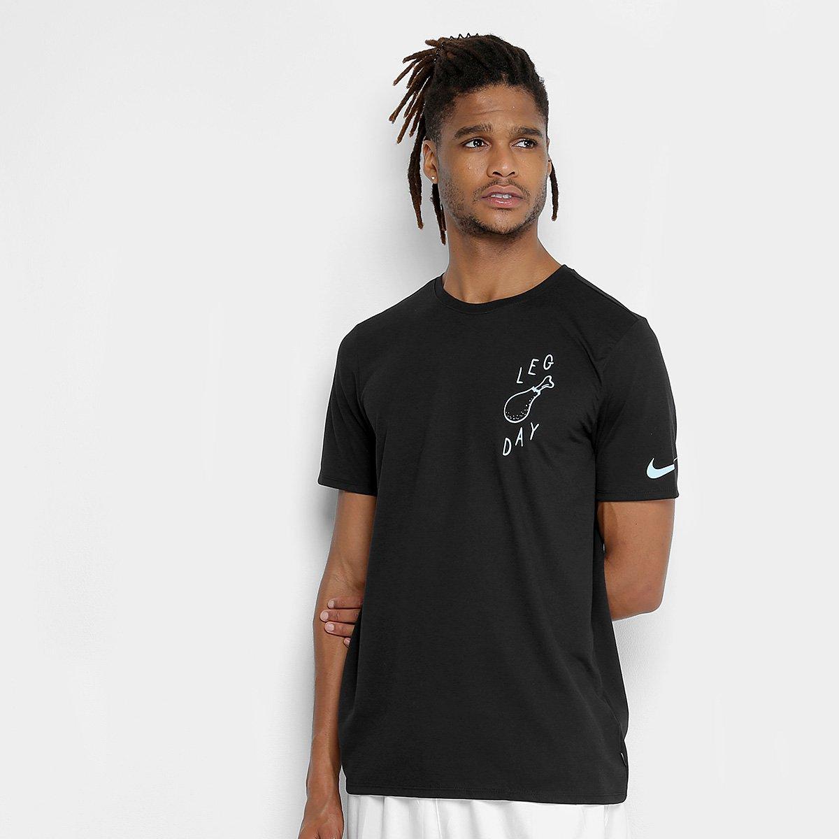 57e8c69b76 Camiseta Nike Dry Leg Day Masculina - Preto | Loja do Inter