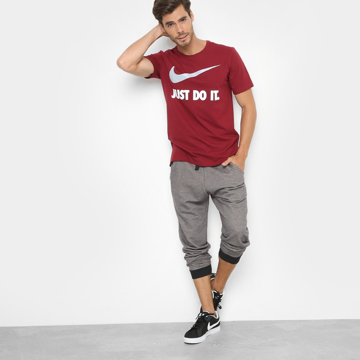 Camiseta Nike New Jdi Swoosh Masculina - Compre Agora  d15fa97dd05f9