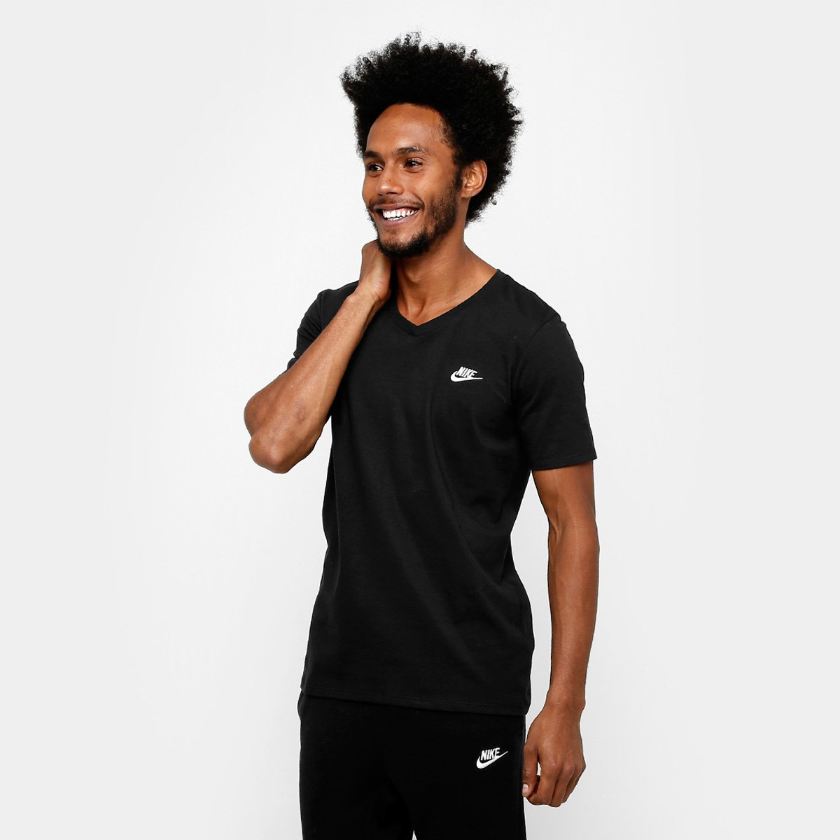 e6e407d0d2678 Camiseta Nike Nsw Vnk Club Embrd Ftra Masculina - Preto - Compre Agora