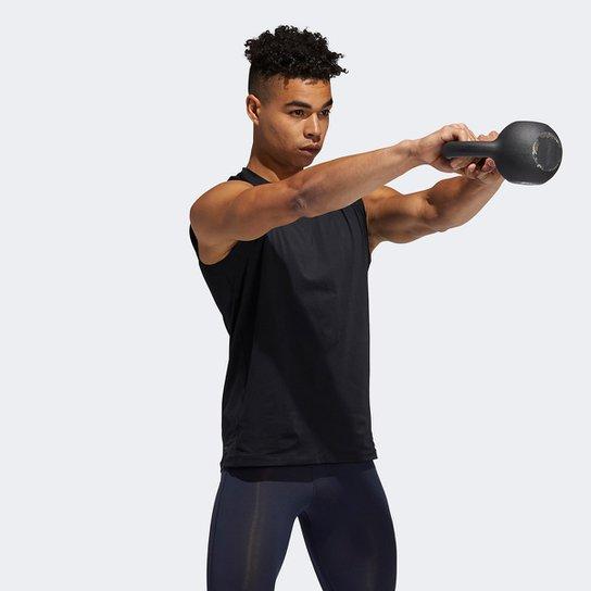 Camiseta Regata Adidas Techfit Masculina - Preto