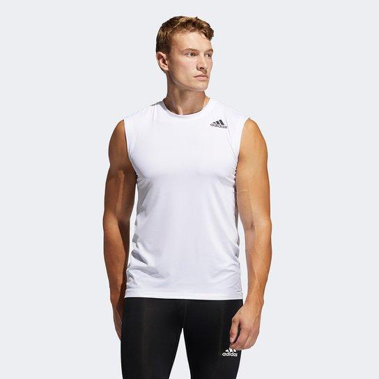 Camiseta Regata Adidas Techfit Masculina - Branco