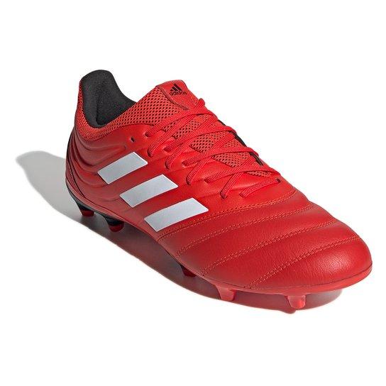Chuteira Campo Adidas Copa 20 3 FG - Vermelho+Branco