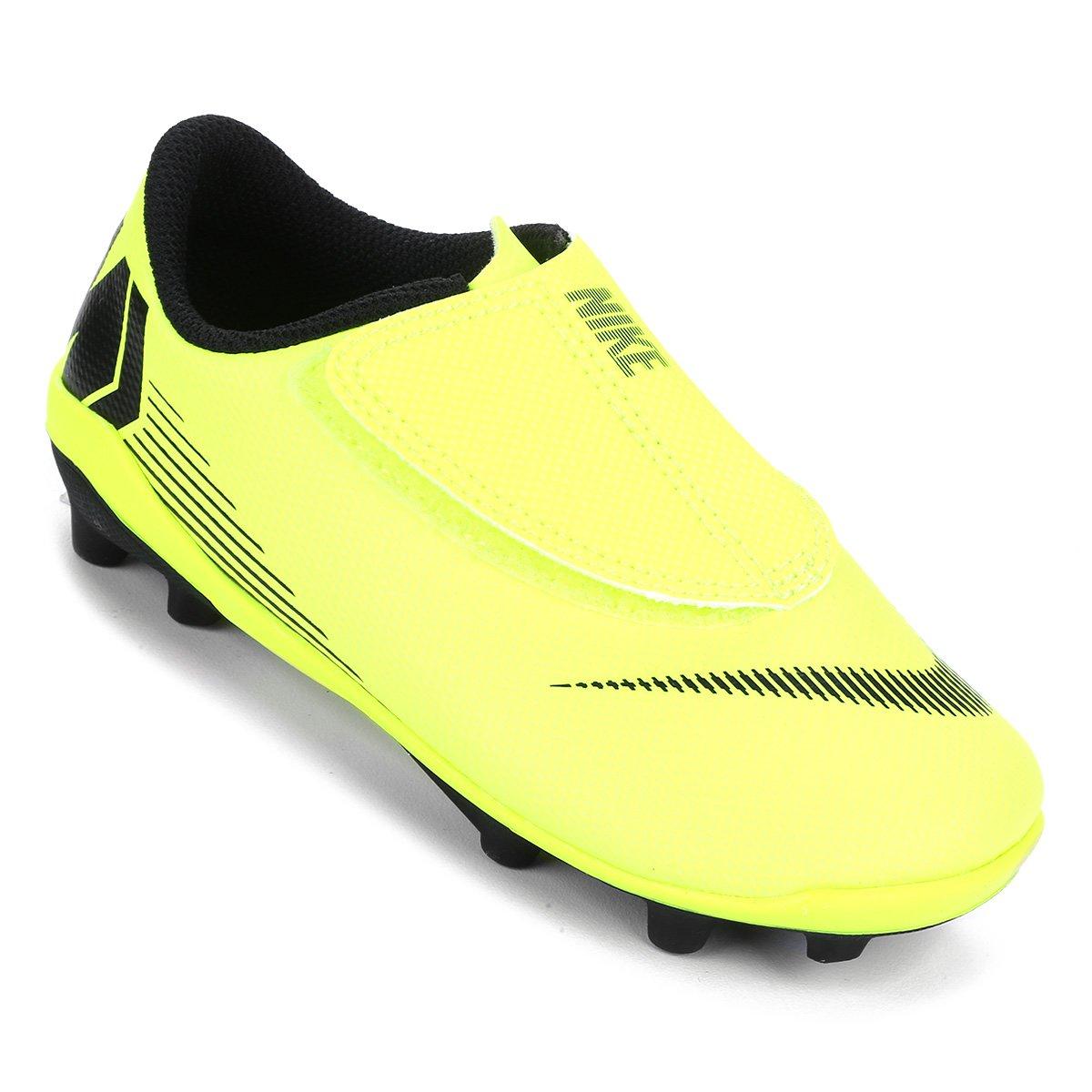 da6ed64146 Chuteira Campo Infantil Nike Mercurial Vapor 12 Club PS FG - Amarelo e Preto