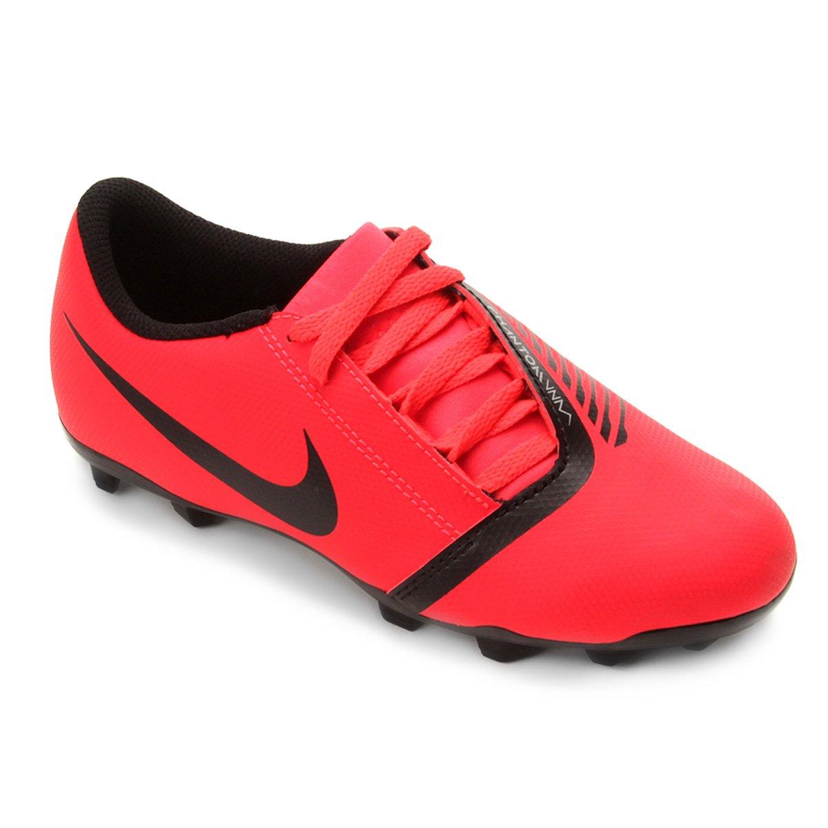 79bd9eee9edd1 Chuteira Campo Infantil Nike Phantom Venom Club FG - Vermelho e Preto    Loja do Inter