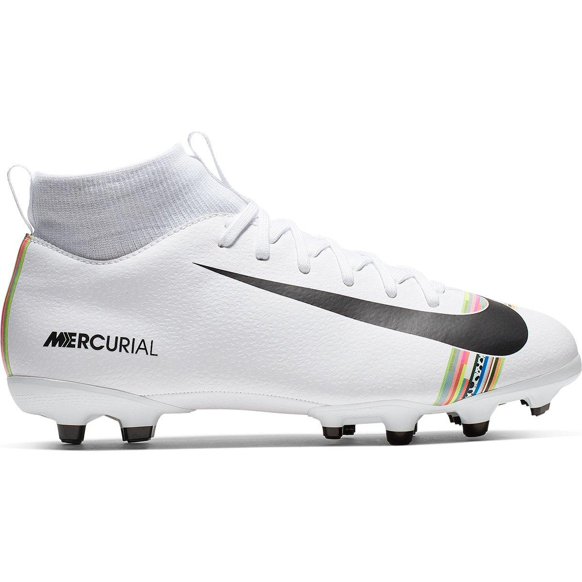 e6612c5a0dc47 Chuteira Campo Infantil Nike Superfly 6 Academy GS CR7 FG - Branco e Preto  | Loja do Inter