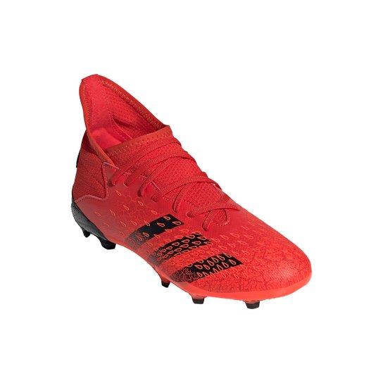 Chuteira Campo Juvenil Adidas Predator Freak 3 - Vermelho+Preto