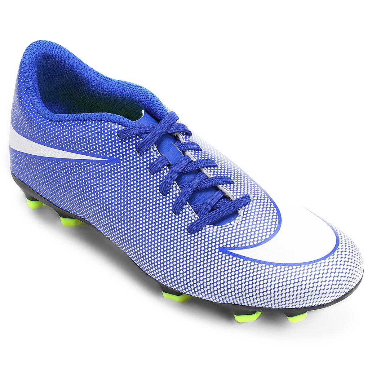 0a3624c9912f2 Chuteira Campo Nike Bravata 2 FG - Azul e Branco | Loja do Inter