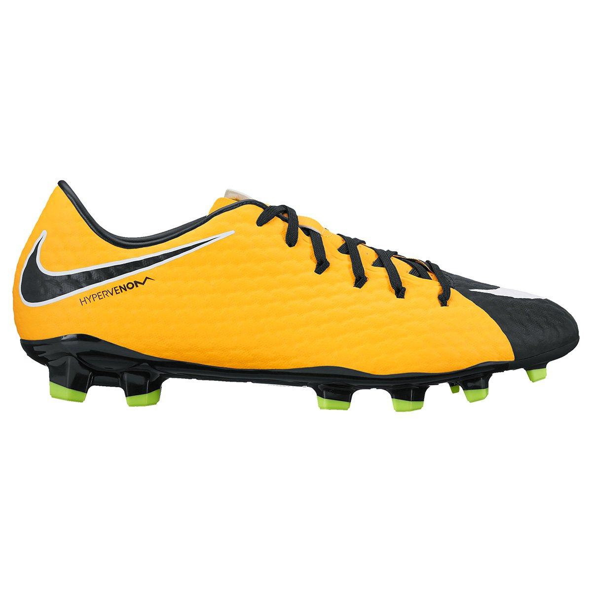 eb6f89ff07 Chuteira Campo Nike Hypervenom Phelon 3 FG - Laranja e Preto ...