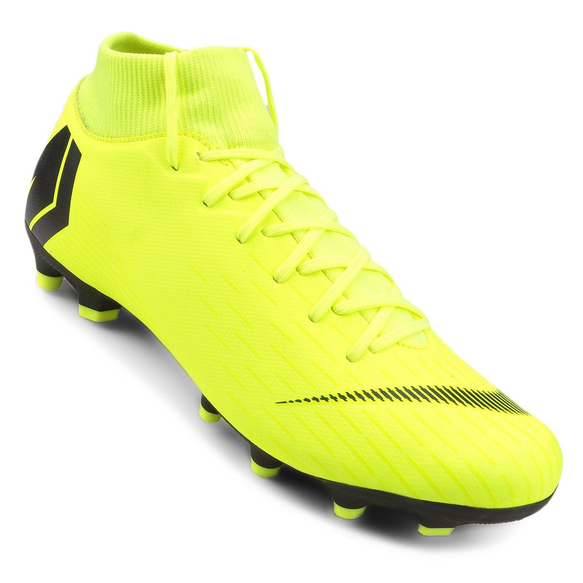 Chuteira Campo Nike Mercurial Superfly 6 Academy - Amarelo e Preto ... 3d624f135672c