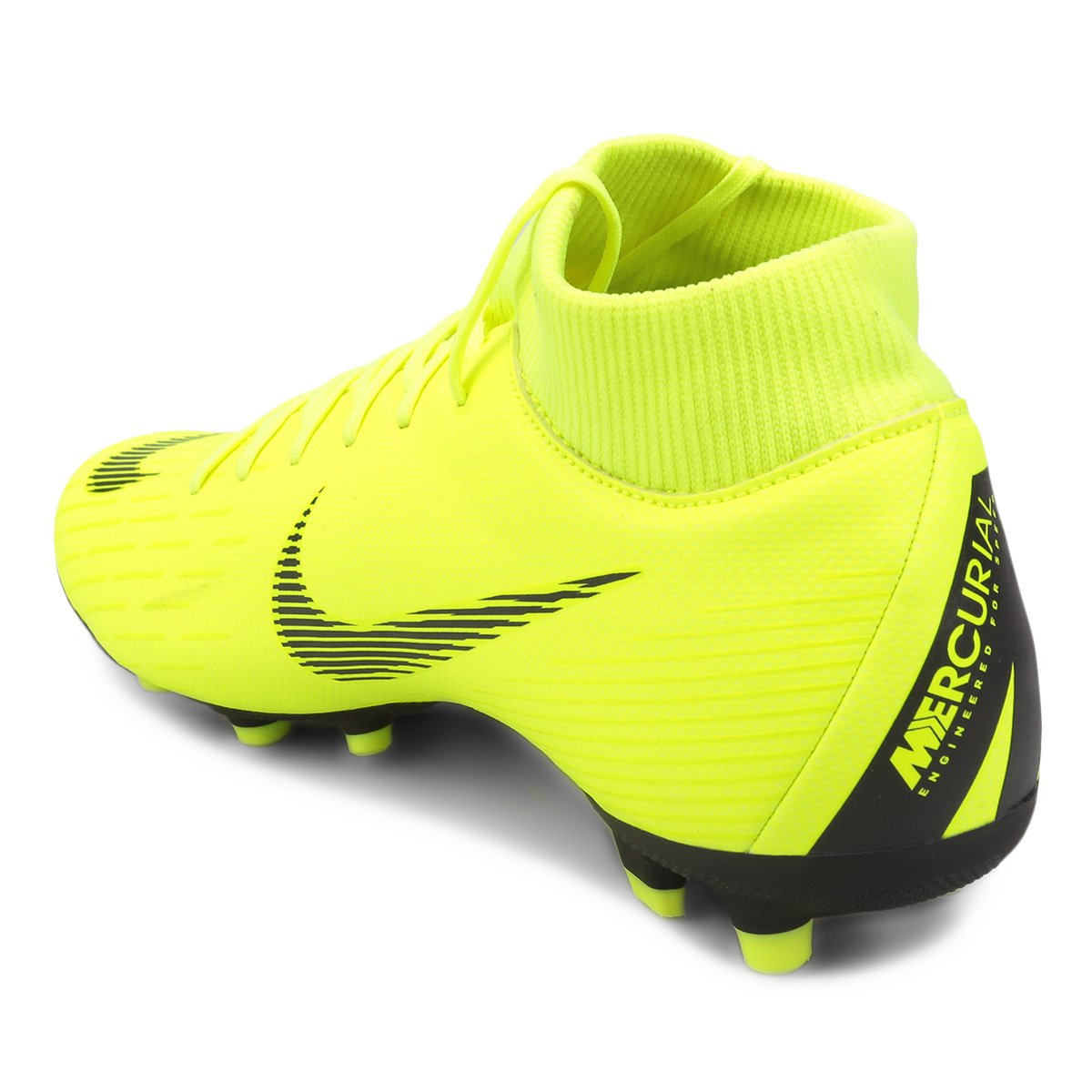 Chuteira Campo Nike Mercurial Superfly 6 Academy - Amarelo e Preto ... 75d009da68538