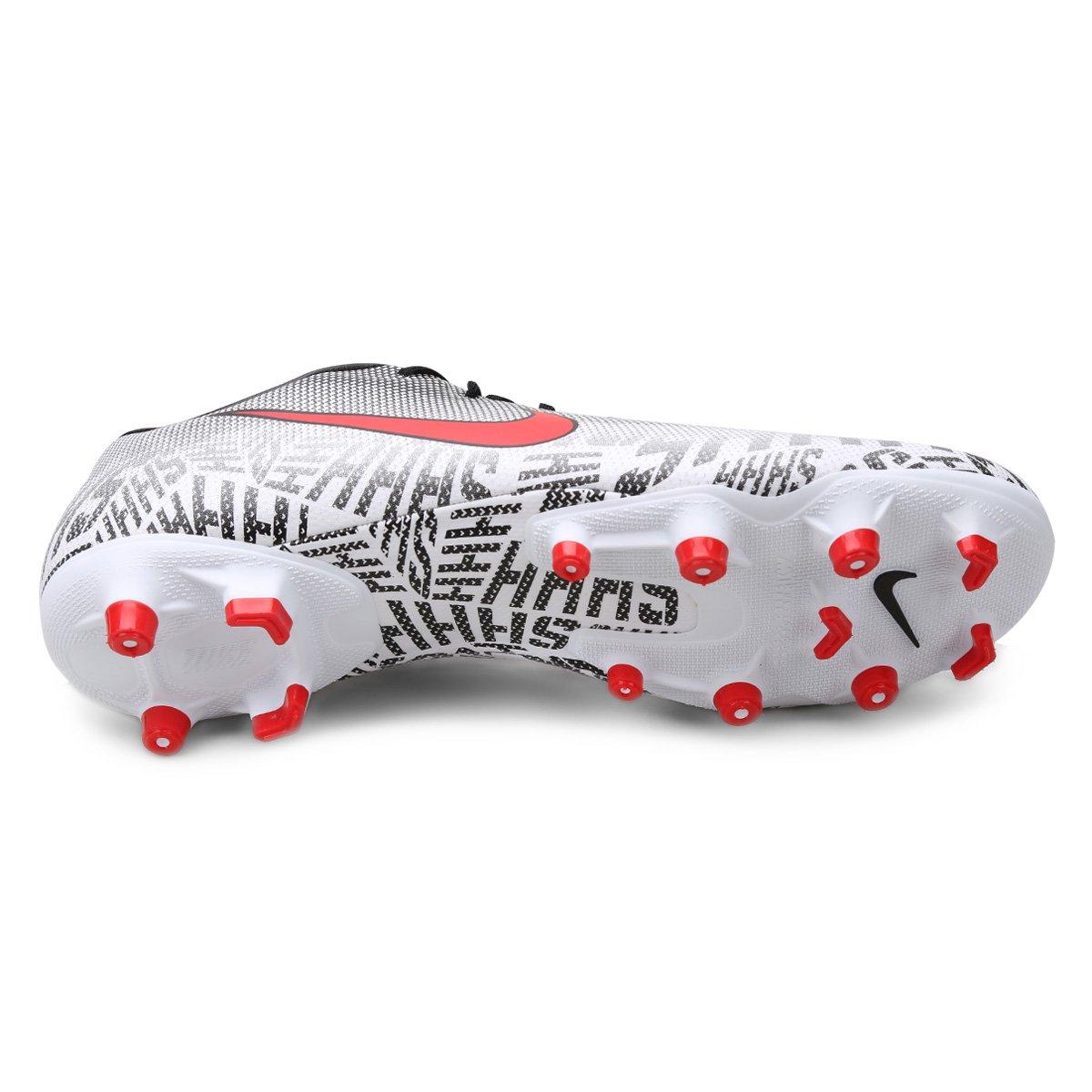 7b08a4bdac Chuteira Campo Nike Mercurial Vapor 12 Academy Neymar Jr FG - Branco e  Vermelho