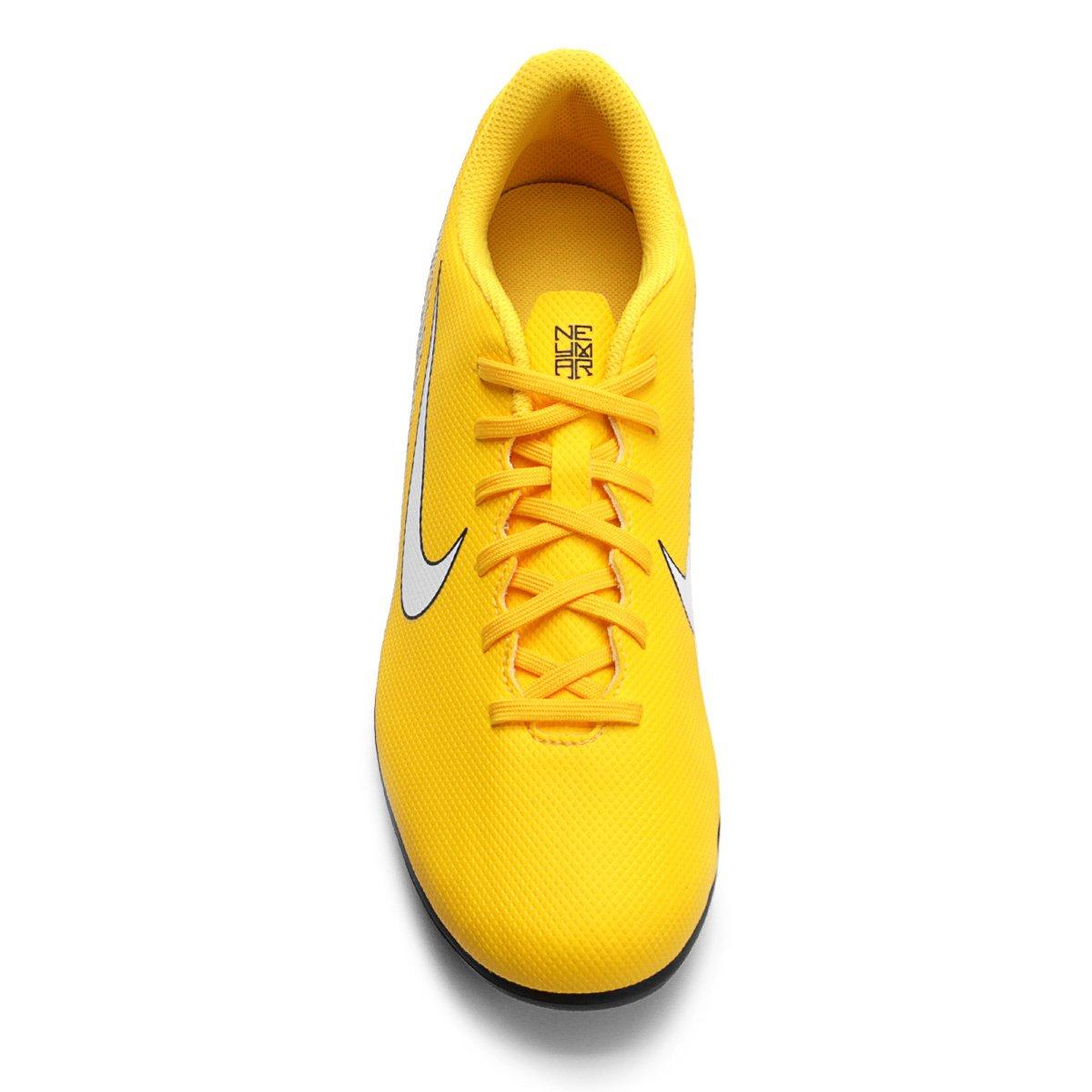 f21e716c8b Chuteira Campo Nike Mercurial Vapor 12 Club Neymar FG - Amarelo e ...