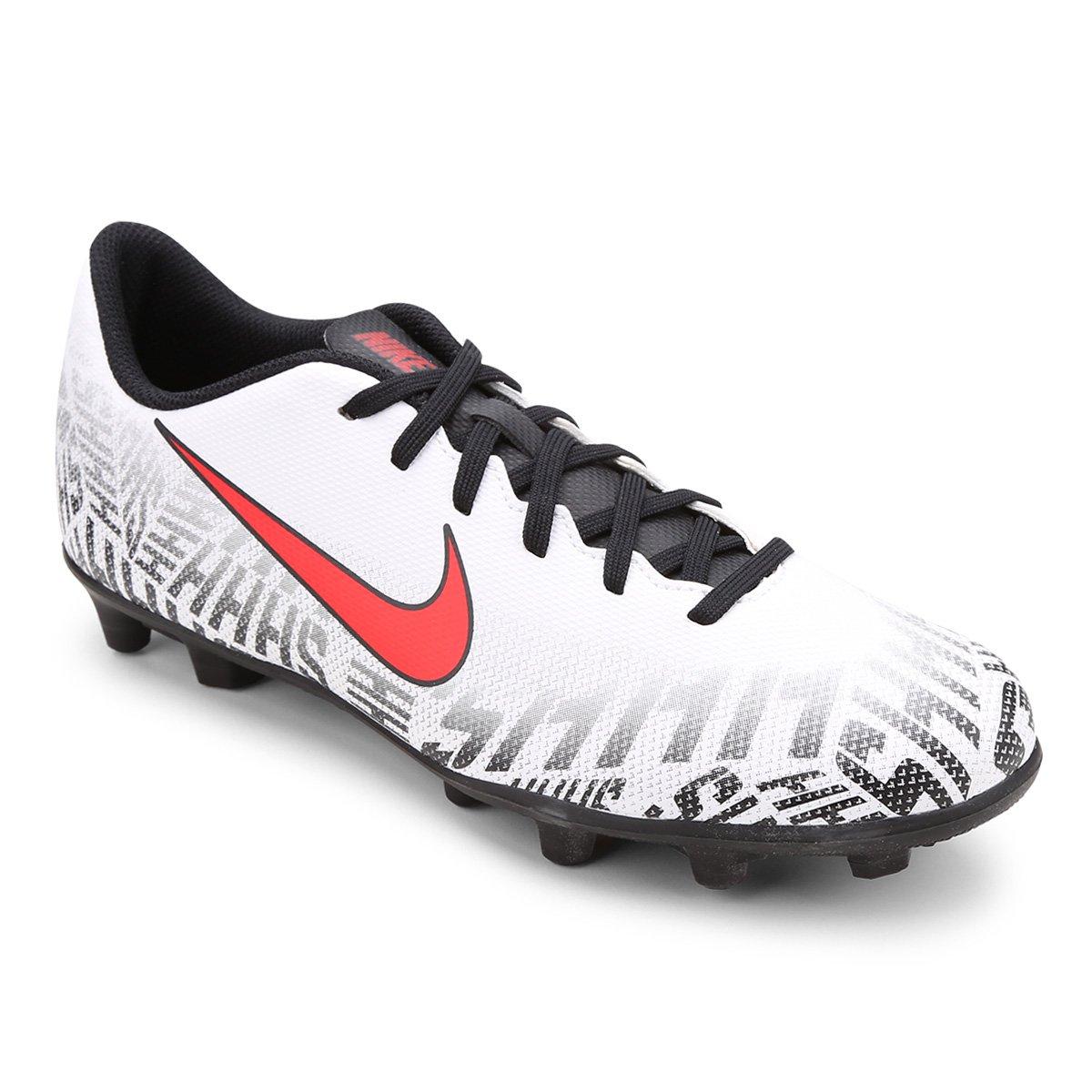 9fe24c3414c Chuteira Campo Nike Mercurial Vapor 12 Club Neymar Jr FG - Branco e  Vermelho - Compre Agora