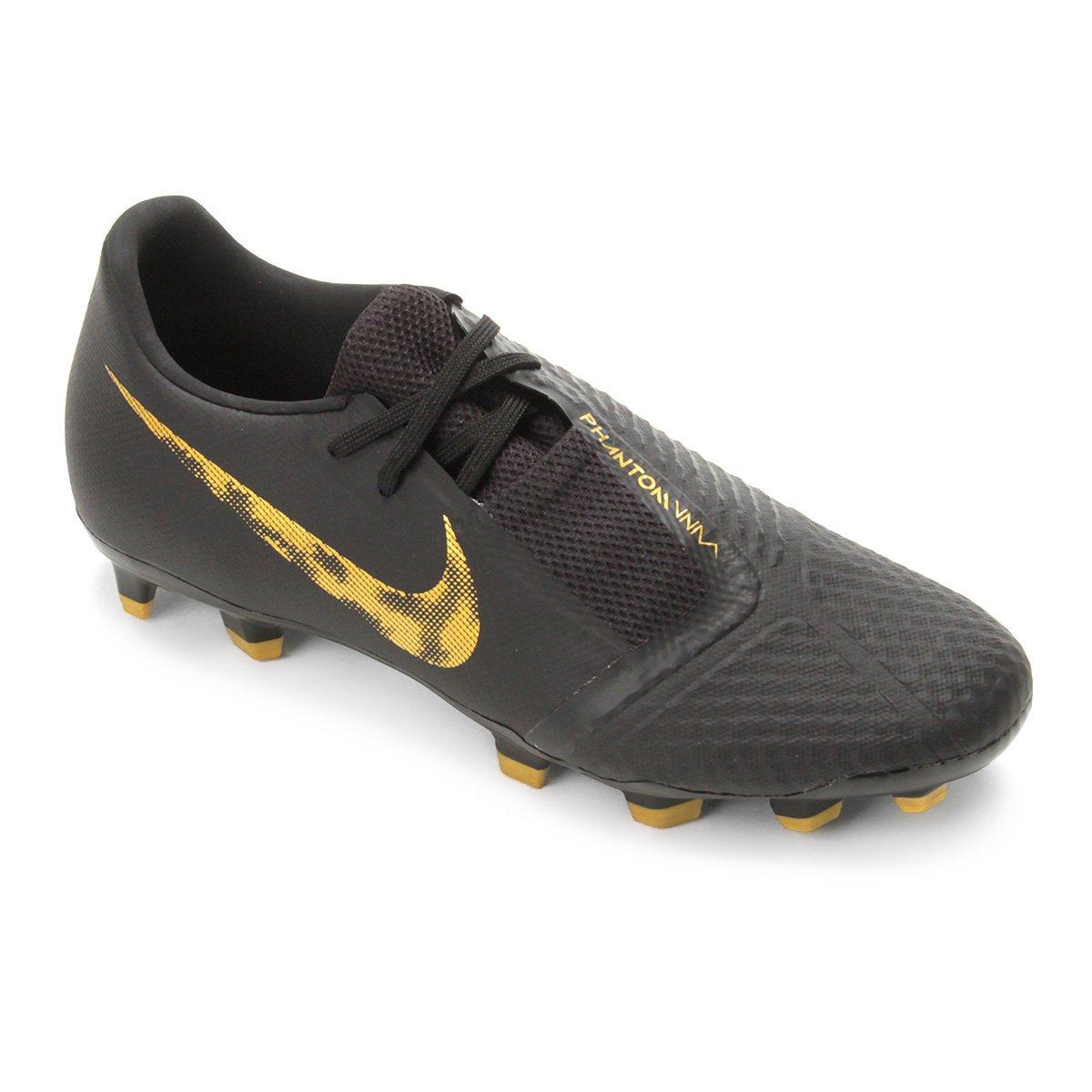 80a00fb33aa18 Chuteira Campo Nike Phantom Venom Academy FG - Preto e Dourado | Loja do  Inter