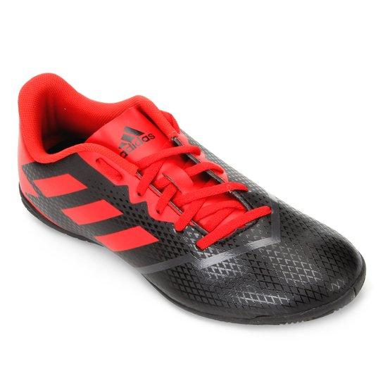Chuteira Futsal Adidas Artilheira IV IN - Preto+Vermelho