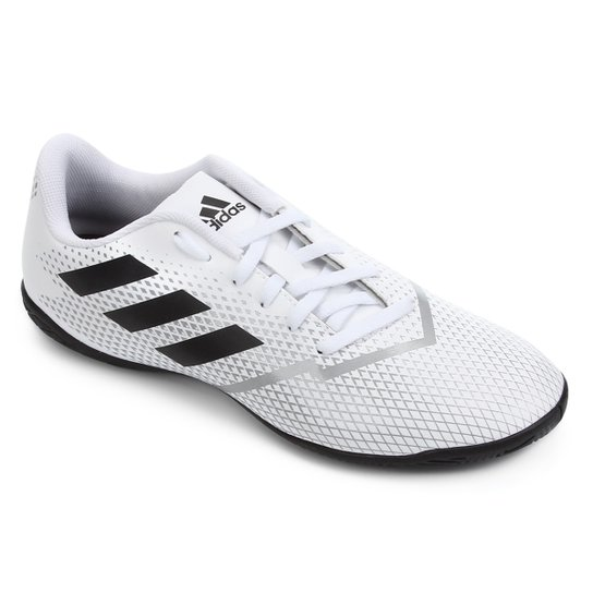 Chuteira Futsal Adidas Artilheira IV IN - Branco+Preto