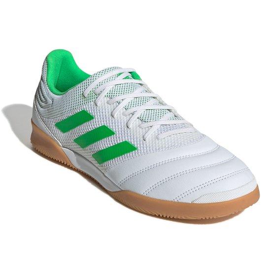 Chuteira Futsal Adidas Copa 19 3 IN - Branco+Verde