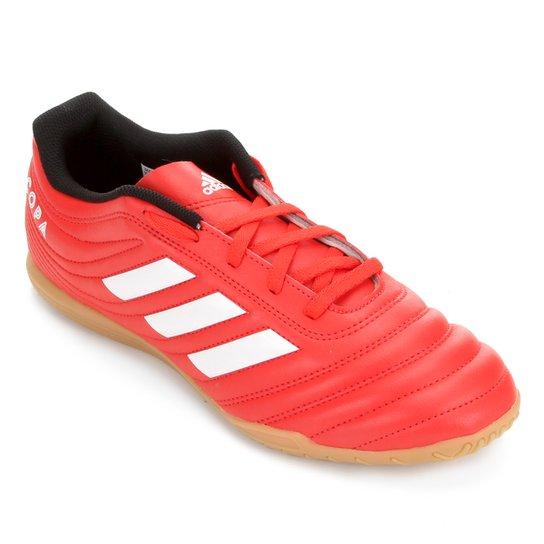 Chuteira Futsal Adidas Copa 20 4 IN - Vermelho+Branco