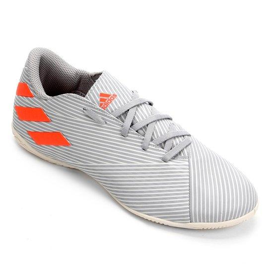 Chuteira Futsal Adidas Nemeziz 19 4 IN - Cinza