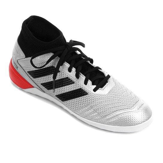 Chuteira Futsal Adidas Predator 19 3 IN - Prata