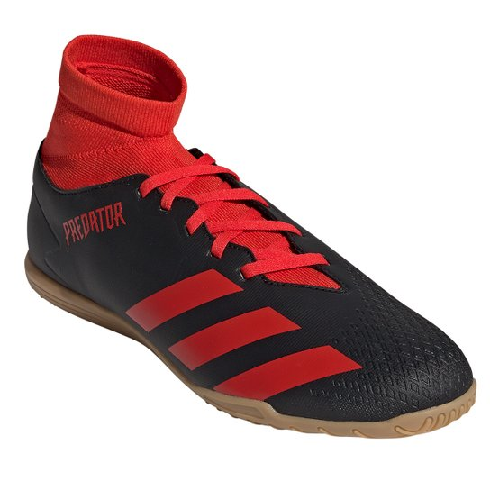 Chuteira Futsal Adidas Predator 20 4 S IN - Preto+Vermelho