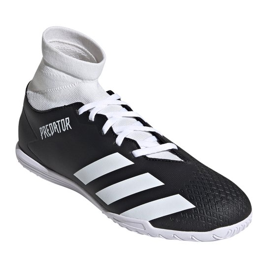 Chuteira Futsal Adidas Predator 20 4 S - Preto+Branco
