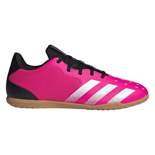 Chuteira Futsal Adidas Predator Freak 4 - Rosa+Branco